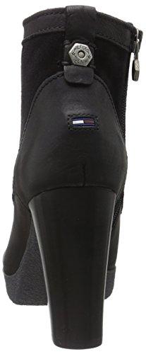 Hilfiger Denim - C1385larisa 1c, Stivali bassi con imbottitura leggera Donna Nero (Nero (black 990))