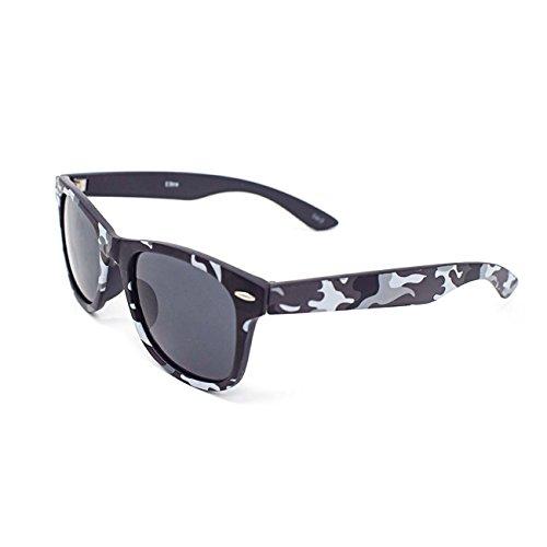UltraByEasyPeasyStore Jungen Tarnung Klassische Sonnenbrille für Kinder UV400 Schutz Unisex UVA UVB Kinder Mädchen Jungen Shades