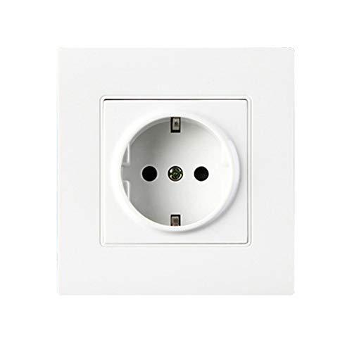 Denret3rgu 16A Universal Wandhalterung für Steckdosenleiste - Weiß -