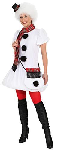 Schneemann Kostüm Damen - Kleid Schneefrau,