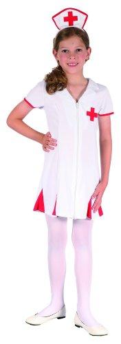 ne Krankenschwester Kinder-Kostüm rot-Weiss 122/134 (7-9 Jahre) ()