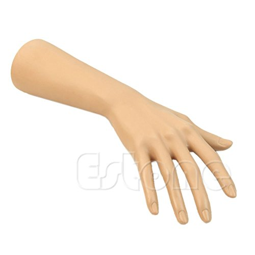 Bernstein Glas-modell (Schmuckständer halterung Nail art Modell Uhr Ring Armband Handschuhe Stehen Schaufensterpuppe Hand)