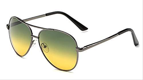GUOTAIYH Mode Sonnenbrillen NachtsichtDrive Sonnenbrille Polarisierte Pilot Männer Polaroid Driving Sonnenbrille Männer Mode Brillen RetroNacht Jf8808 C4 Gun