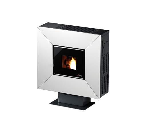 CADEL Cloe³ Pelletofen 6,5 kW Pellet Ofen Cloe-Metall-Weiss