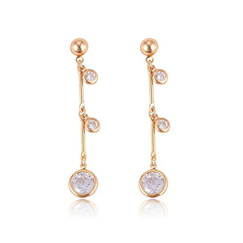 HIWSSH Ohrring Temperament Elegant Ohrrings Popular Design Eardrops For Women Jewelry Party Thanksgiving Gifts S82-95162 White ()