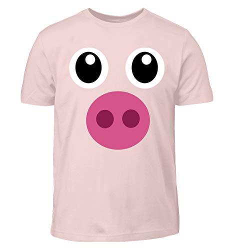 Pinkes Schweinchen T-Shirt Halloween Süßes Schwein Geschenk - -