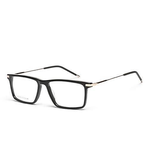 YMTP Männer Acetat Brille Rahmen Designer Optische Myopie Klar Brillengestell, C1