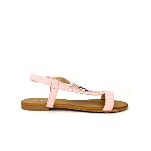 Rosa Colore Rosa Cinks Scarpe Sandalo Cendriyon Di Piatto Donne Mi Delle 1wFqCgA