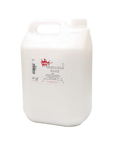 Scola Desinfektionsmittel PVA-Kleber, abwaschbar, 5 l, Eco-Glue Bastelkleber in der Schule