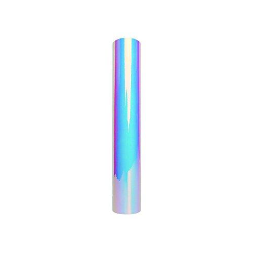 Opal Weiß Holographic Chrome Adhesive Vinyl Rolle 30.5x122cm (1x4ft) für die Dekoration