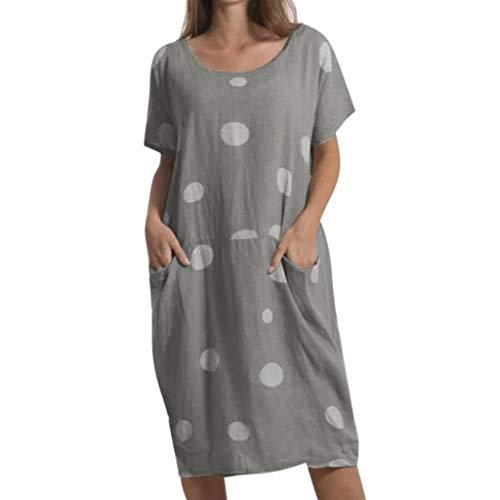XuxMim Damen Kleid Retro 1920s Stil Flapper Kleider voller Pailletten Runder Ausschnitt Great Gatsby Motto Party Kleider Damen Kostüm Kleid(Dunkelgrau,X-Large) (Beste Aktuelle Event Kostüme)