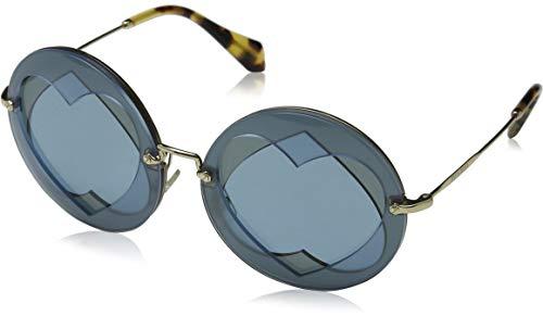 Miu Miu Damen 0MU01SS VA06P2 62 Sonnenbrille, Türkis (Azure/Hazelnut/Bluette), -