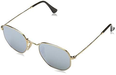 Ray Ban Unisex Sonnenbrille RB3548N Gold (Gestell: Gold,Gläser: Grün 001), Medium (Herstellergröße: (Gold Grün Sonnenbrille)