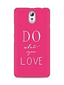 AMEZ do what you love Back Cover For Lenovo Vibe P1M