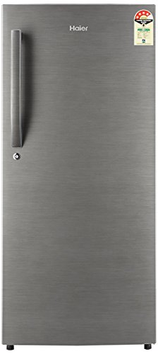 Haier 195 L 4 Star Direct Cool Single Door Refrigerator(HED-20FDS, Brushed silver/Dazzle Steel)