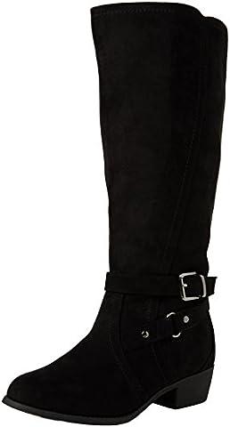 New Look Wide Foot Bruges - Bottes Haute - Femme - Noir (black/01) - 39 EU (6 UK)
