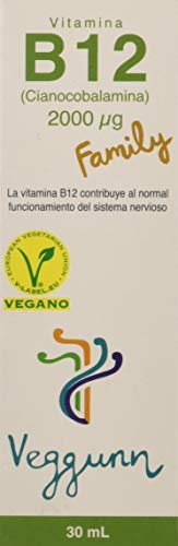 Veggunn Vitamina B12 Family Líquida Sublingual Natural