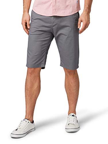 Dot Print Kurze (TOM TAILOR für Männer Hosen & Chino Josh Regular Slim Chino-Shorts Blue Grey dot Print, 33)