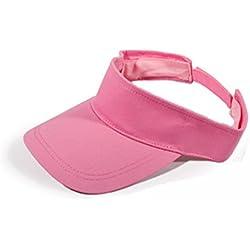 Butterme Fashion Unisex adultos deportes al aire libre sol visera ajustable Hat Gorra de golf de running–Tenis