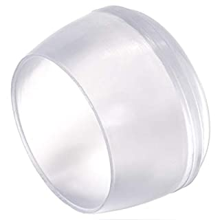 Adsamm 16 x Stuhlbeinkappen | Ø 25 mm | Transparent | rund | Möbelgleiter für Stahlrohrstühle