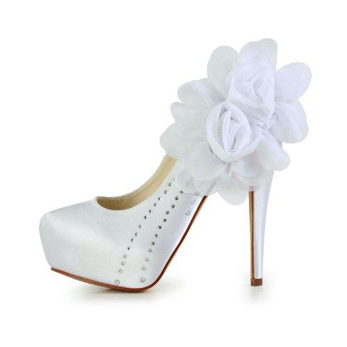 Jia Jia Wedding 2018 chaussures de mariée mariage Escarpins pour femme Blanc