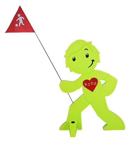 StreetBuddy - Warnfigur Kindersicherheit - Herz Mit Puppen