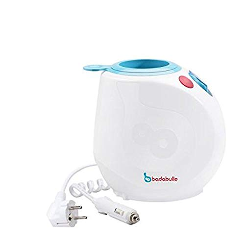Badabulle Easy Plus Heim und Auto Flaschenwärmer, Babykostwärmer, inklusive praktischem Dosierer, Erwärmen in 90 Sekunden, für zuhause und unterwegs