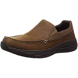 Skechers Harsen-Ortego-BLK 65620, Mocasines para Hombre, Marrón (Brown CDB), 43 EU
