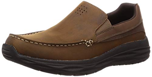 Skechers harsen-ortego-65620, mocassini uomo, marrone (brown cdb), 41 eu