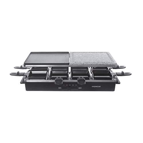 Raclette elettrica rettangolare in pietra e alluminio, da 1400 w
