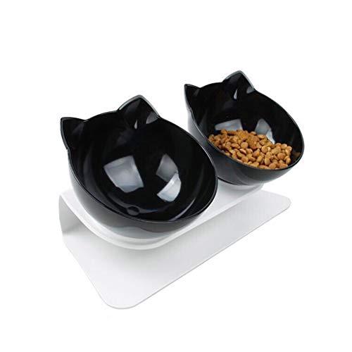 Tvvudwxx Katzenschale Schüssel rutschfest Hundenapf Katzennapf Doppelschalen Mit Erhöhtem Ständer Katze-Schüssel Wassernapf