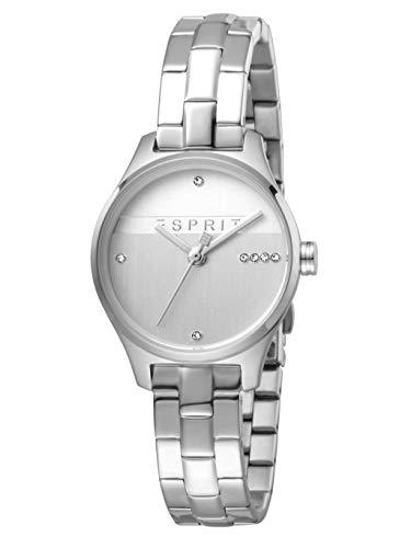 Esprit ES1L054M0055 Essential Glam Uhr Damenuhr Edelstahl 3 bar Analog Silber (Esprit Uhren Für Frauen)
