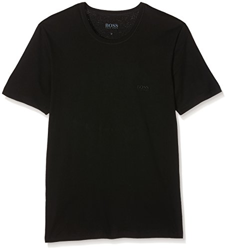 BOSS Herren T-Shirt RN 3P CO, Schwarz (Black 001), Small