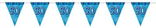 kette mit 50. Geburtstag-Flaggen, aus Folie, 2,74 m (9 Fuß) (50 Geburtstag Party-ideen)