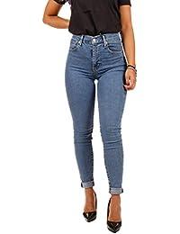Levi's Jeans Denim Jeans a Vita Alta, Skinny Feat. E' Disponibile nella Variante Colore Stone Washed Chiaro.