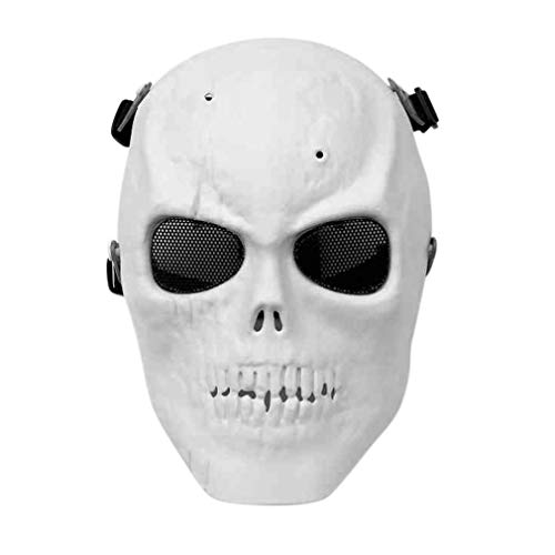 JingHeYongKeJi Moda del Esqueleto del Cráneo Máscara De La Máscara De La Máscara Al Aire Libre CS Airsoft Paintball Protección