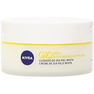 NIVEA Q10 Power Antiarrugas Cuidado de Día (1 x 50 ml), crema facial antiarrugas para piel mixta, crema hidratante con protector solar 15, crema antiedad