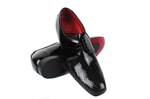 Zerimar Chaussures avec Augmente Intérieur DE 7 cm Style Décontracté Couleur Noir Noir