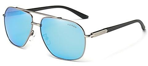 AORON Moderne Unisex Polarisiert Sonnenbrille 100% UV-Schutz (Grau)