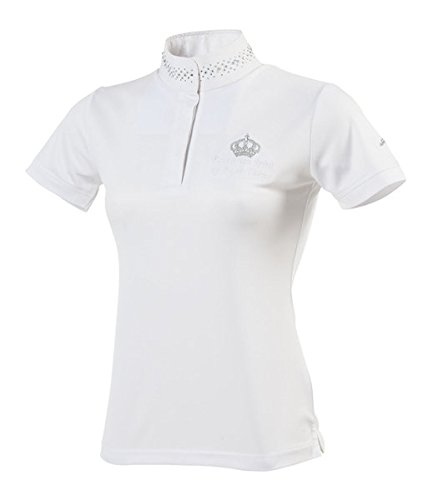 Equi-Theme Damen Turniershirt Couronne, strassbesetzter Kragen (38)