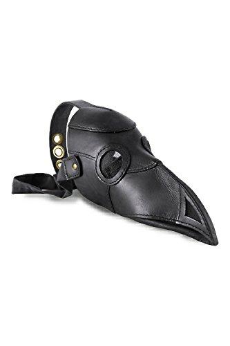 Maske schwarz Leder, Dr. der Pest, SORCIER Rabe, Vogel Steampunk