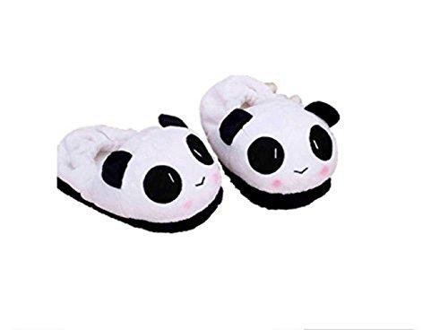 SHINA Femme Chaussures Panda chaussons thermiques hiver chaud doux en peluche ménagers en motif de panda