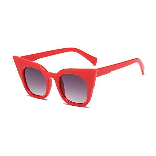 Siwen Neue Eltern-Kind-Modelle Frauen Cat Eye Sonnenbrillen Kinder Brille Uv400,Rot grau,Erwachsene Größe