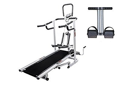 Lifeline 4 in1 Deluxe Treadmill Machine for Walking and Jogging at Home|Bonus Tummy Trimmer  available at amazon for Rs.10499