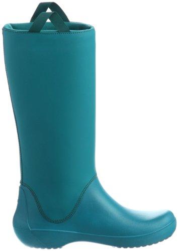 Crocs Rainfloe Boot, Bottes de Pluie femme Bleu (Juniper/Juniper)