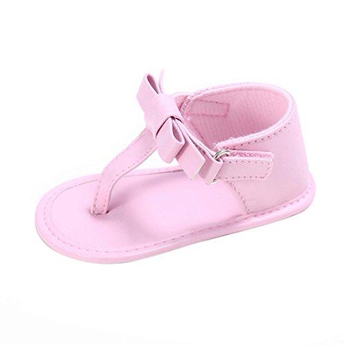 (LuckyGirls Baby Sandalen Kleinkind Schuhe Lauflernschuhe Mädchen Krippe Schuhe Neugeborenen Zehentrenner weiche Sohle Anti-Rutsch Baby Turnschuhe (0 ~ 6 Monate, Pink))