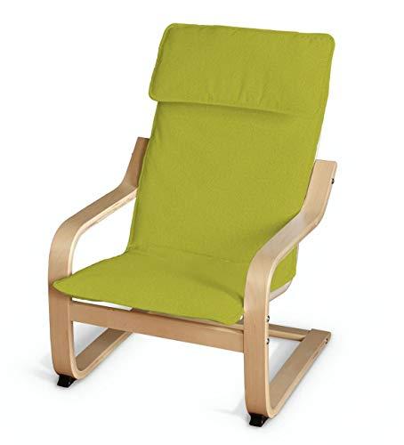 Dekoria Poäng Kissen für den Kindersessel Sesselhusse passend für IKEA Modell Klappsta Limone
