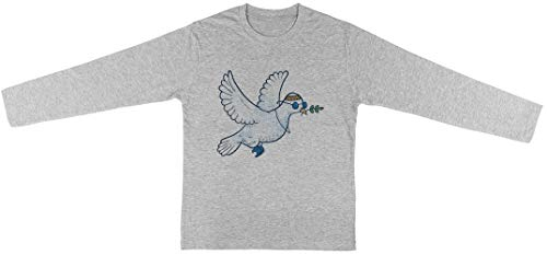 Das Hippie Taube Kinder Unisex Jungen Mädchen Grau T-Shirt Langarm Kids Unisex T-Shirt Long Sleeve