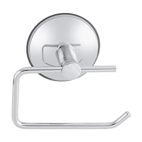 Toilettenpapierhalter Toilettenpapierrollenhalter Moderne Edelstahl Papierspender Ohne Bohrung Papierspender Vakuum Saugnapf Abnehmbare Halterung für Badezimmer Wc Küche Chrom