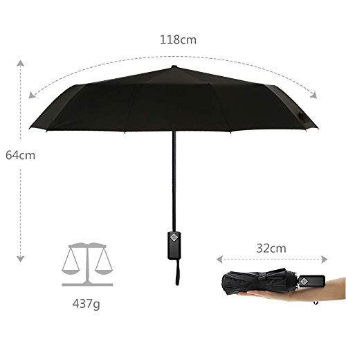 Zoom IMG-3 cuxus ombrello portatile automatico antivento